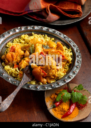 Individual portion of vegetable curry - Stock Photo