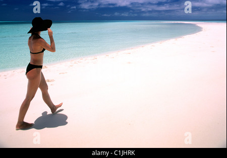 Maldives, Atoll Faafu (80 miles south of Male), Filitheyo Resort, 5 stars hotel, located on Nilandhe Island - Stock Photo