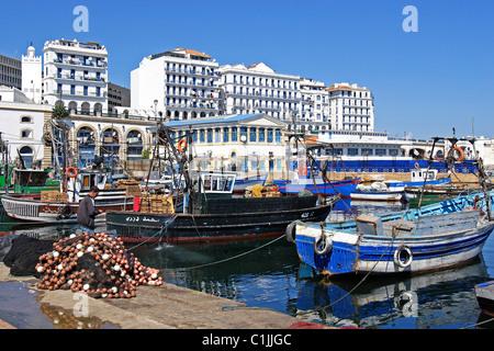 Algeria, Algiers, fishing port of Algiers - Stock Photo
