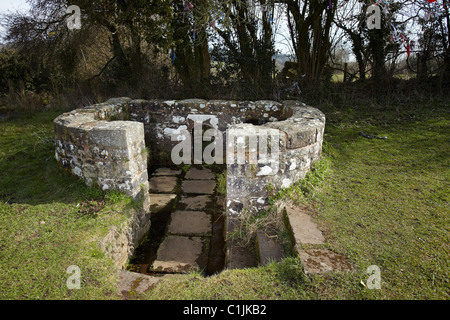 St Annes or Virtuous Well, Trellech, South Wales, UK - Stock Photo
