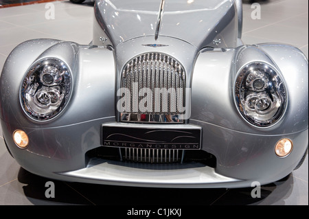 Morgan Aero supersports car on display at Geneva Motor Show 2011 Switzerland - Stock Photo