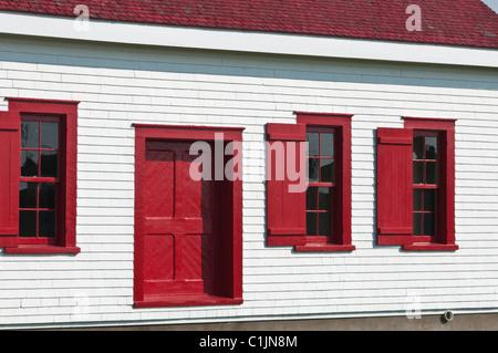 Quebec, Canada. Pointe-au-Père Lighthouse in Rimouski. - Stock Photo