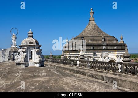 Rooftop of the Catedral de la Asuncion, Leon, Nicaragua - Stock Photo