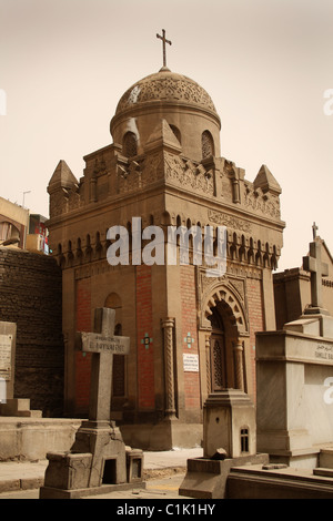 Domed Tomb / Mausoleum in Cemetery at Old or Coptic Cairo, Egypt. - Stock Photo