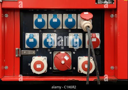 Generator Power Sockets - Stock Photo