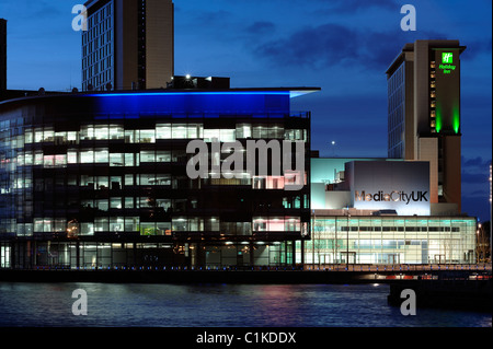 BBC Media City UK Salford Quays - Stock Photo
