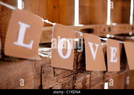 Sign Spelling the Word Love - Stock Photo