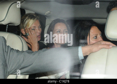 Kate Moss leaving the charity fundraising evening 'Hoping's Got Talent' in aid of the Hoping For Palestine charity - Stock Photo
