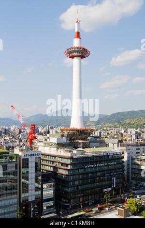 Kyoto Tower, Kyoto, Kyoto Prefecture, Kansai Region, Honshu, Japan
