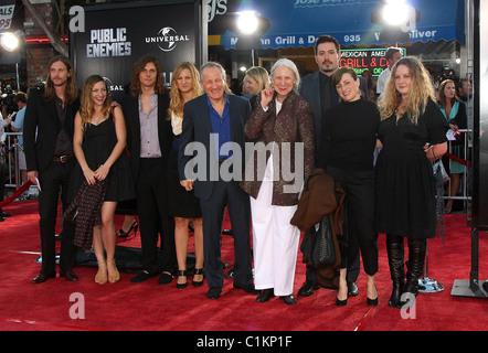 Michael Mann & Family 2009 Los Angeles Film Festival - 'Public Enemies' Premiere held at Mann Village Theatre - - Stock Photo