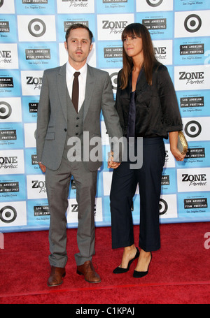 Giovanni Ribisi and guest 2009 Los Angeles Film Festival - 'Public Enemies' Premiere held at Mann Village Theatre - Stock Photo