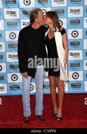 Peter Fonda and Parky Devoge Laere 2009 Los Angeles Film Festival - 'Public Enemies' Premiere held at Mann Village - Stock Photo