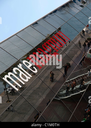 Maremagnum, shopping mall and entertainment district, Port Vell, Barcelona, Catalonia, Spain, Europe - Stock Photo