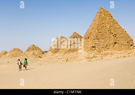Sudan, Nuri pyramids, Kingdom of Meroe - Stock Photo