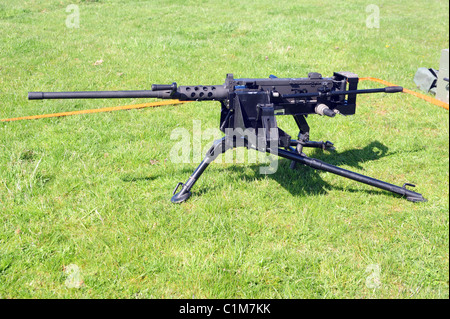 The powerful L1A1 12.7 mm (.50) Heavy Machine Gun (HMG) is an updated version of the Browning M2 'Fifty-cal' - recognised - Stock Photo