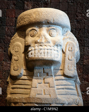 Aztec Stone Skull The Anthropological Museum  Mexico City Mexico - Stock Photo