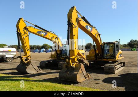 Industrial Steam shovel steamshovel excavator trench digger - Stock Photo