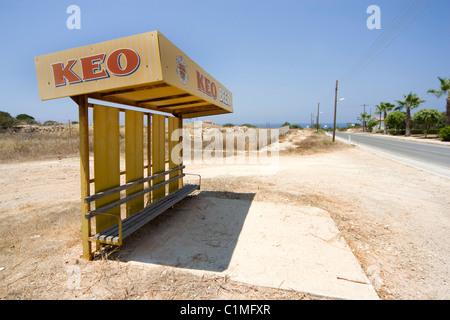 Keo sponsored bus shelter - Stock Photo