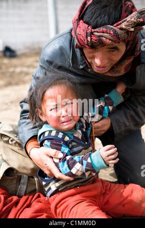Faces of Tibet. - Stock Photo