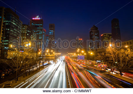 Beijing City, Central Business District, CBD, China - Stock Photo