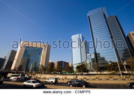 Beijing City, New Poly Plaza, Dongcheng District, China - Stock Photo