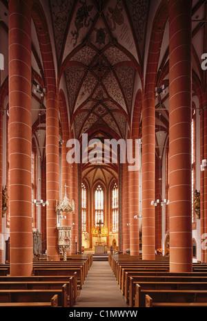 St. Wendel, Basilika St. Wendelin (Wendalinusbasilika), Blick nach Osten - Stock Photo