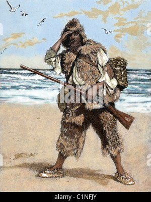 a look at daniel defoes robinson crusoe english literature essay Essay on daniel defoe' robinson crusoe the economic individualism in robison crusoe illustrates the first significant example in english literature of.