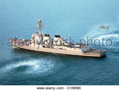USS Oscar Austin - Stock Photo