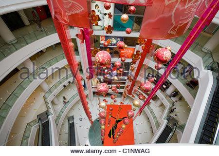 Shanghai, New World Mall, Nanjing Road, China - Stock Photo