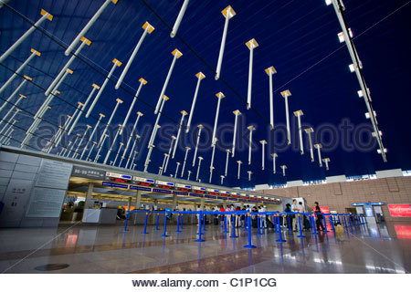 Shanghai, Pudong International Airport, China - Stock Photo