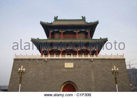 Tianjin, Gulou, Drum Tower, China - Stock Photo