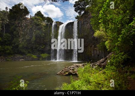Whangarei Falls, Whangarei, Northland, North Island, New Zealand - Stock Photo