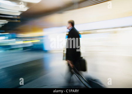 Man with luggage - Stock Photo