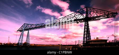Transporter bridge, Middlesbrough, Teeside, Britain - Stock Photo