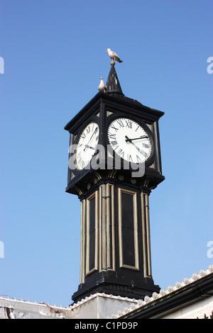 England, Sussex, Brighton Pier, clock tower