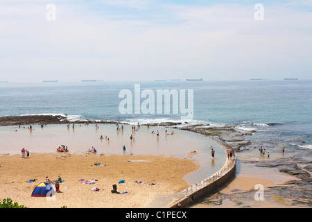 Australia, New South Wales, Newcastle Ocean Baths - Stock Photo