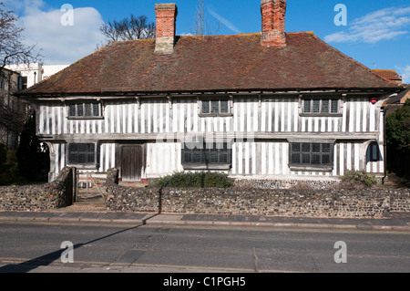 A mediaeval timber-framed house in Margate, Kent - Stock Photo