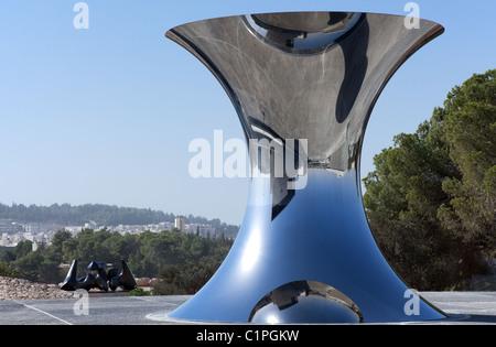 Israel, Jerusalem, a steel art work in the Israel Museum - Stock Photo