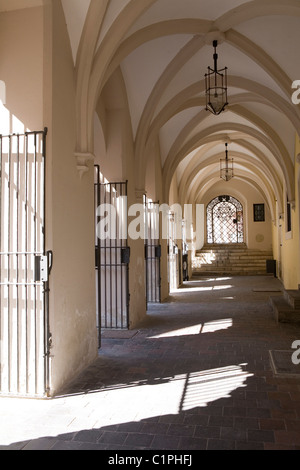 Germany, Bavaria, Ingolstadt, arcade of old Town Hall - Stock Photo