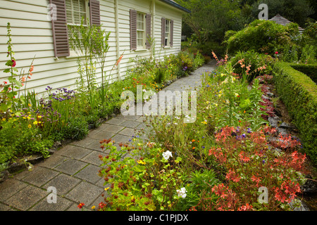 Treaty House, Waitangi, Bay of Islands, Northland, North Island, New Zealand - Stock Photo