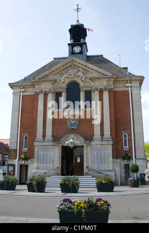 UK, England, Oxfordshire, Henley-on-Thames Town hall facade - Stock Photo