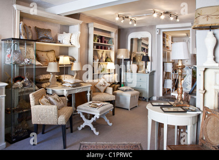 Inside An Interior Design Shop In The Provincial English Town Of Warminster Wiltshire England