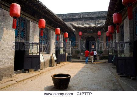 Qiaojiabao Old Town, near Pingyao, Shanxi Province, China - Stock Photo
