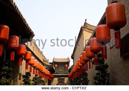 Qiao Family Mansion, Qiaojiabao Village, near Pingyao, Shanxi Province, China - Stock Photo