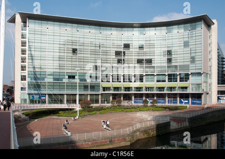 The Lowry 5 star Hotel on the banks of the River Irwell,Salford Greater Manchester. - Stock Photo