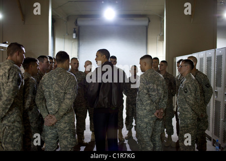 Obama at Bagram Airfield in Afghanistan - Stock Photo
