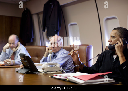 President Barack Obama talks with British Prime Minister David Cameron about the  situation in Libya. March 22, 2011