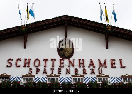 The Schottenhammel Festzelt at the Oktoberfest in Munich, Germany. - Stock Photo