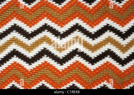 Striped fall color knitting work - Stock Photo