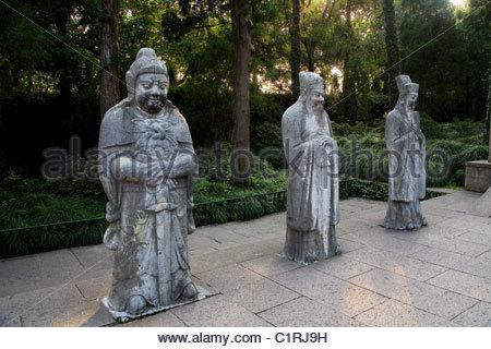 Yue Fei Temple, Yuewang, Hangzhou, Zhejiang Province, China - Stock Photo
